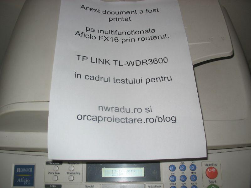 Pagina este scoasa pe o imprimanta care nu este trecuta in lista de imprimante compatibile.